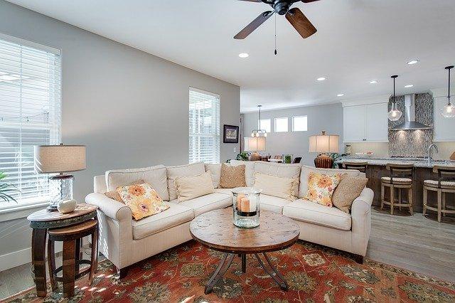 obývací pokoj a osvětlení